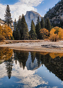 Joseph Smith Framed Prints - Half Dome Reflection Framed Print by Joseph Smith
