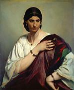 Famous Artists - Half-Length Portrait of a Roman Woman by Anselm Feuerbach