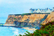 Foggy Day Digital Art Prints - Half Moon Bay 2 Print by Betty LaRue