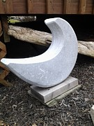 Moon Sculpture Posters - Half Moon Poster by Edwin A Ziarko