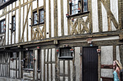 Half-timbered Posters - Half timbered house in Chartres Poster by RicardMN Photography