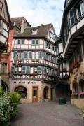 France Doors Framed Prints - Half Timbered House In Colmar - Alsace Framed Print by Christiane Schulze