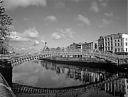 Halfpenny Prints - Halfpenny Bridge Dublin Print by Brian Kelly