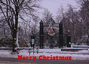 Halifax Art Framed Prints - Halifax Christmas Framed Print by John Malone