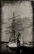 Ship In Sepia Photo Posters - Halifax Harbour Poster by John Malone