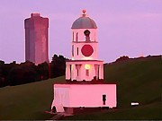 Jsm Fine Arts Halifax Digital Art - Halifax Town Clock by John Malone