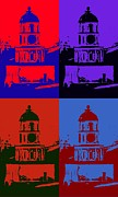 Halifax Photography Prints - Halifax Town Clock Pop Art Poster Print by  Halifax Artist John Malone