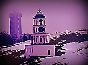 Halifax Photography Prints - Halifax Town Clock Vignette Print by  Halifax Artist John Malone