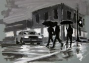 Night Scenes Painting Originals - Halifax Untitled Number Five  by John Malone