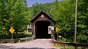 Grafton Vermont Prints - Hall Covered Bridge. Print by New England Photography
