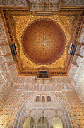 Tracery Framed Prints - Hall of Ambassadors Alcazar Interior Framed Print by Artur Bogacki