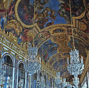 Palace Of Versailles Prints - Hall of Mirrors-Versaille Print by Allen Beatty