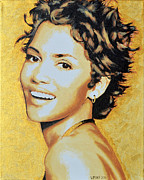 Halle Berry Framed Prints - Halle Berry Framed Print by Victor Minca