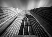 Cathedral Window Prints - Hallgrimskirkj II Print by David Bowman