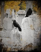 Gothic Crows Posters - Halloween Air Poster by Gothicolors And Crows