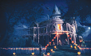 Haunted House  Digital Art - Halloween by Anthony Christou