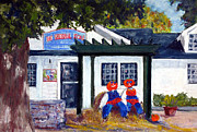 Store Pastels - Halloween at The General Store by Shelley Koopmann