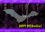 Bat Cave Mixed Media - Halloween Bat by Jeanette K