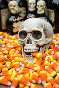 Creepy Metal Prints - Halloween Candy Corn Metal Print by Edward Fielding