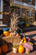 Hardware Shop Prints - Halloween Displays Middle Amana Iowa Hardware Store Print by Robert Ford