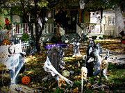 Prescott Photos - Halloween House by Aaron Burrows