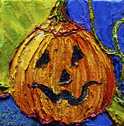 Paris Wyatt Llanso Prints - Halloween Jack-O-Lantern Print by Paris Wyatt Llanso
