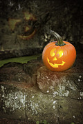 Old Face Prints - Halloween Jack O Lanterns Print by Christopher and Amanda Elwell
