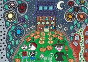 Haunted House Paintings - Halloween by Kerri Ambrosino GALLERY
