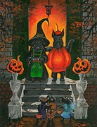 Scottie Paintings - Halloween MacDuff by Margaryta Yermolayeva
