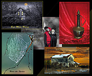 Haunted House  Digital Art - Halloween Melody Collage by Judy  Johnson