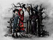 Halloween Night Print by Rachel Christine Nowicki