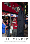 University Of Wisconsin Originals - Halloween on State Street Madison Wisconsin 2006 by Jeff Alexander