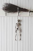 Sandra Cunningham - Halloween skeleton hanging on coathook