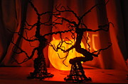 Spooky  Digital Art Originals - Halloween Trees by Kelly Glass