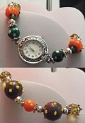 Beads Jewelry Framed Prints - Halloween Watch Framed Print by Kimberly Johnson