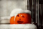 Snow Scenes Metal Prints - Halloween - Winter - Im cold Metal Print by Mike Savad