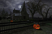 Haunted House Digital Art - Halloween Witch House - 1 by Fairy Fantasies