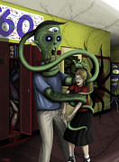 Hallpass To Hell Print by Kris Milo