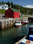 Halls Harbour Fishing Cove Print by Norman Pogson