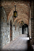 Calistoga Framed Prints - Halls of Castello di Amorosa Framed Print by Gina Savage