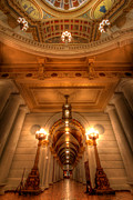 State Capitol Framed Prints - Halls of Gold Framed Print by Lori Deiter