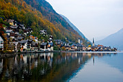 Salzkammergut Framed Prints - Hallstatt From The South Framed Print by David Waldo