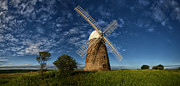 Sussex Framed Prints - Halnaker Windmill Framed Print by Helen Hotson