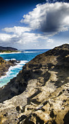 Blowhole Prints - Halona Blowhole Lookout- Oahu Hawaii V2 Print by Douglas Barnard