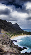 Blowhole Prints - Halona Blowhole Lookout- Oahu Hawaii V3 Print by Douglas Barnard