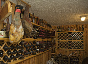 Wine Cellar Photos - Ham and vine cellar.  by La di  Kirn