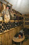 Wine Cellar Photos - Ham and vine by La di  Kirn