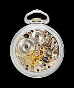 Mechanism Photo Prints - Hamilton 4992B aviator pocket watch Print by Jim Hughes