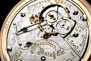 Mechanism Prints - Hamilton 940 pocket watch Print by Jim Hughes