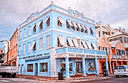 Colonial Building Framed Prints - Hamilton Bermuda Framed Print by Charline Xia